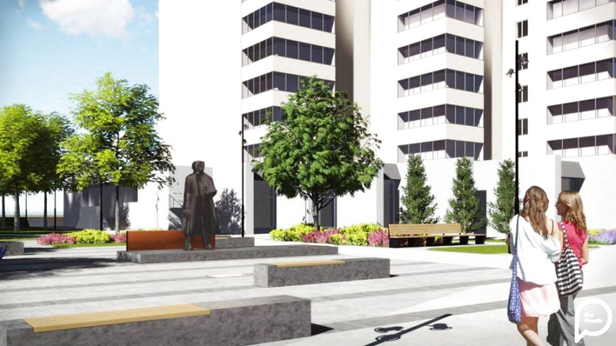 Сквер на розі Зарічанської і Бандери за 6,5 мільйонів: як він виглядатиме (ФОТО)