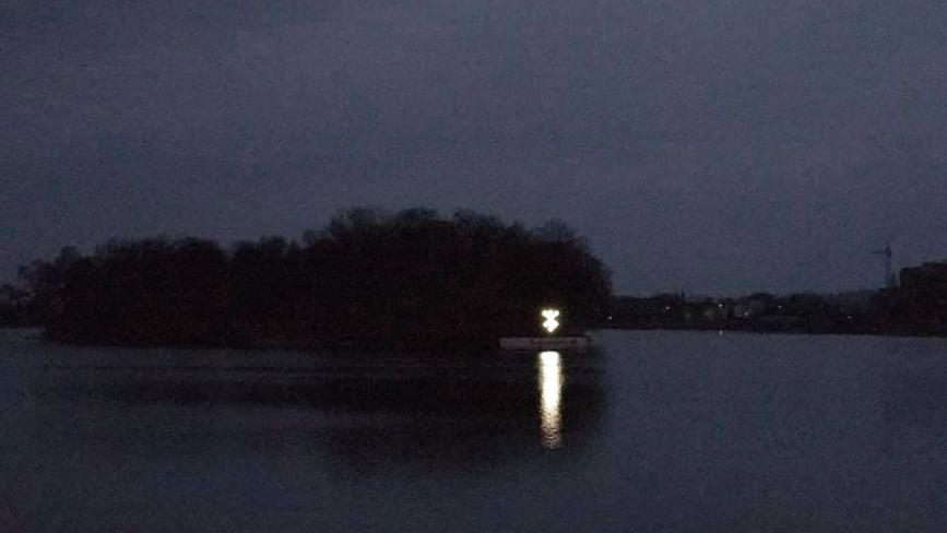 На Острові кохання підсвітили бренд Хмельницького: хто це зробив