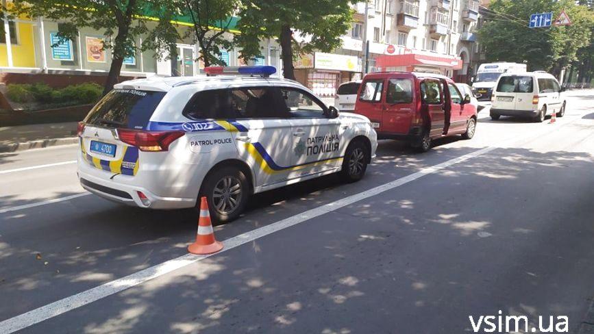 На Кам'янецькій не розминулися три автомобілі (ФОТО)