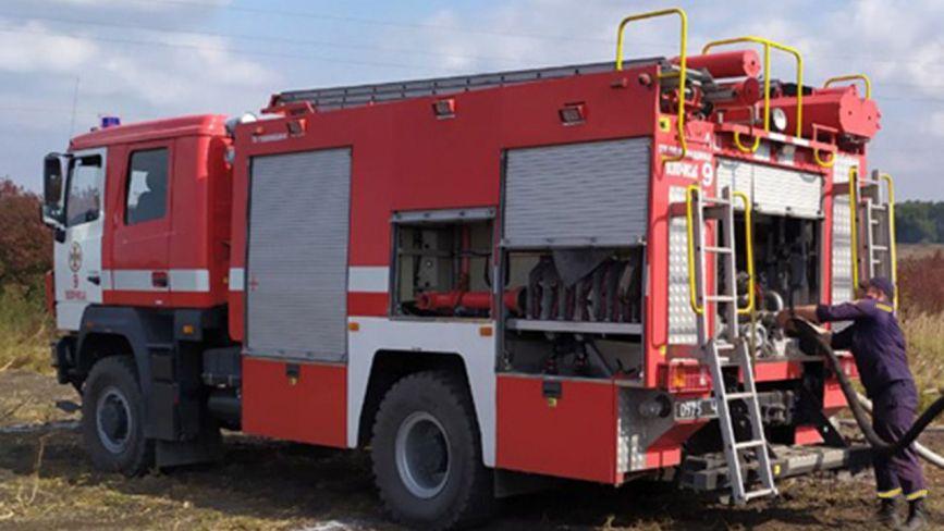 У Волочиському районі сталася масштабна торф'яна пожежа