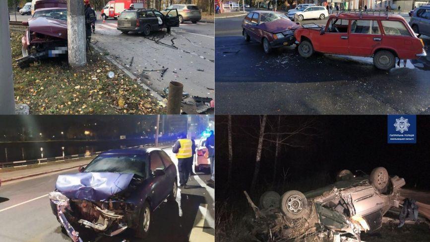 Патрульні розповіли про причини аварій на Хмельниччині та назвали цифри