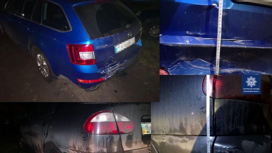 У Хмельницькому розшукують водія, який побив одразу два автомобілі та втік геть