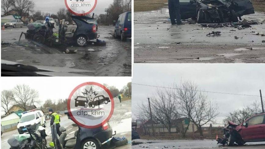 Зіткнулись лоб у лоб: у ДТП на Хмельниччині загинув водій та постраждали дві дитини  (ОНОВЛЕНО)