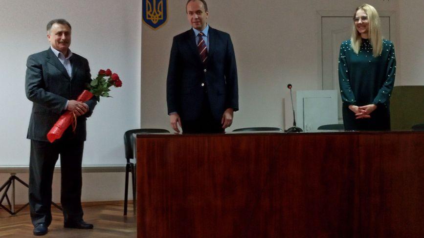 У Хмельницькому офіційно представили нового керівника обласного Департаменту охорони здоров'я