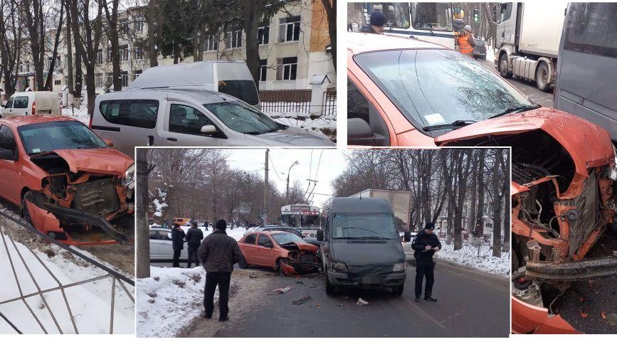 На Чорновола легковик в'їхав у маршрутку (ФОТО)