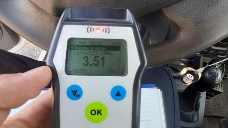 Алкоголю у крові  у 18 разів більше норми: на Хмельниччині спіймали п'яного водія