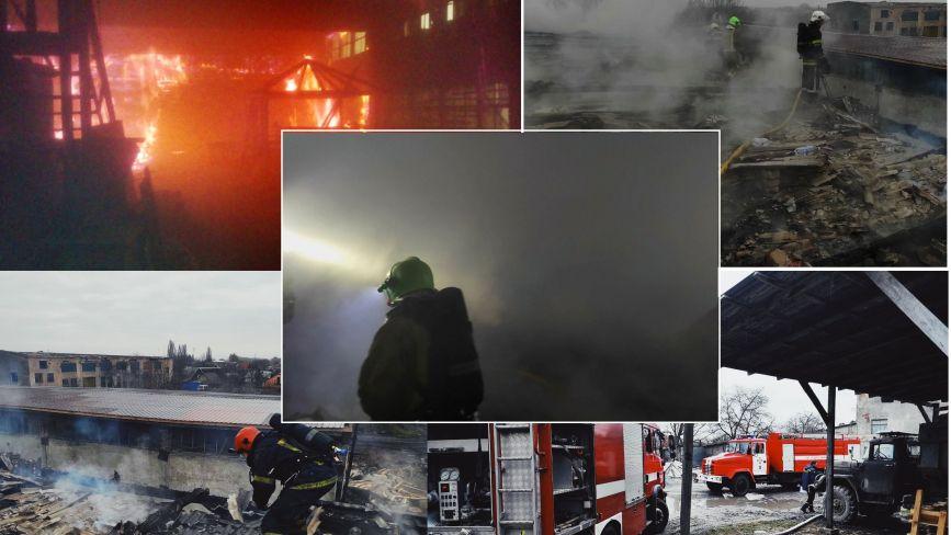 На Хмельниччині рятувальники на 4 авто гасили масштабну пожежу (ФОТО, ВІДЕО)