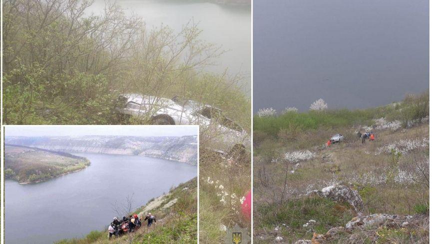 BMW злетів зі скелі на Хмельниччині. У поліції повідомили деталі ДТП