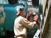 «Космос» підлатають за 100 тисяч гривень: як проходить ремонт скульптури Мазура