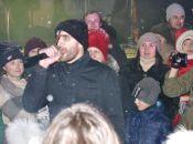 Відгорнули сніг і «вдарили роком». На Проскурівській виступив «Чумацький шлях»