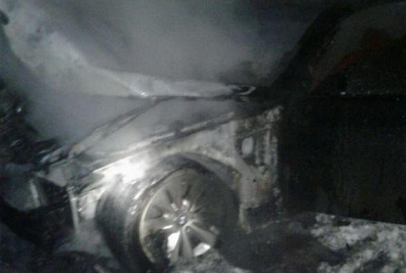На Водопровідній загорілась «BMW»