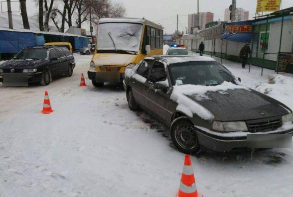 На Львівському шосе маршрутка в'їхала в «Opel»