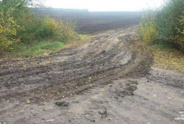 Копи склали адмінпротокол на водія, який забруднив дорогу