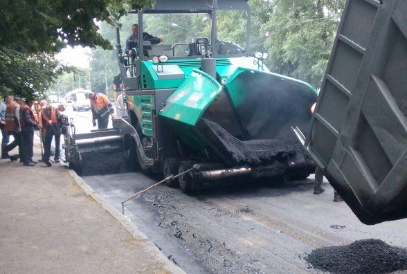 Фото дня: на проспекті Миру ремонтують дорогу