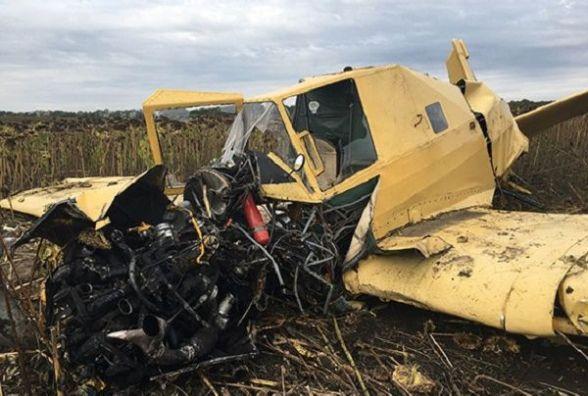 На Волочищині розбився літак. Пілот - в лікарні