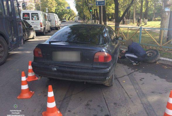 У Хмельницькому розшукують водія, який втік з місця аварії