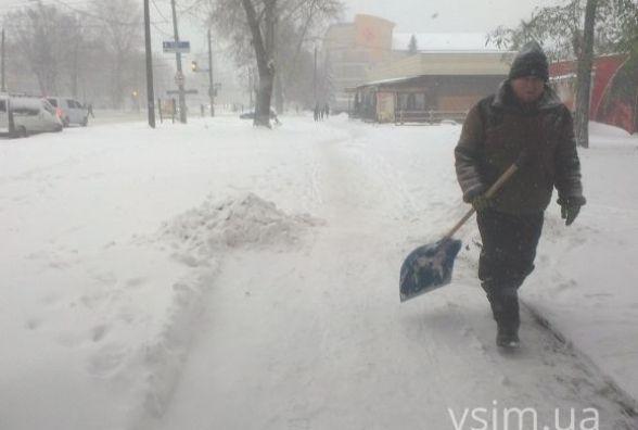 Рік тому Хмельницький завалило снігом