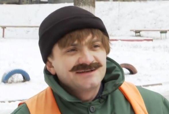 Симчишин у ролі двірника. Сьогодні мера Хмельницького покажуть на ТБ