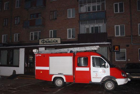"""У центрі Хмельницького загорілося кафе """"Фамілія"""""""