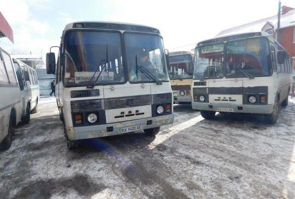«Лютий березень»: як курсують автобуси на Хмельниччині