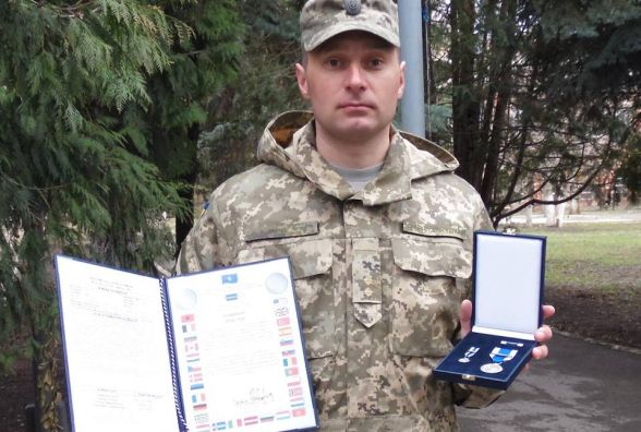 Військовий із Кам'янця отримав медаль НАТО
