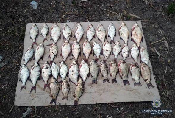 Трьох браконьєрів з гарним уловом упіймали на Хмельниччині
