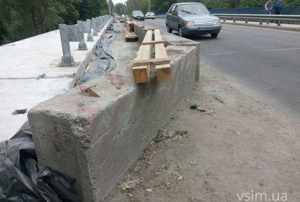 Ремонт Старокостянтинівського мосту: що зробили і коли завершать