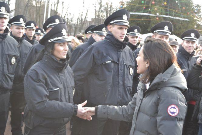 Як у Хмельницькому поліція присягу складала (ФОТО, ВІДЕО)