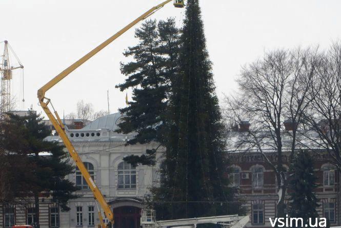 Фото дня: на майдані вже розбирають центральну ялинку