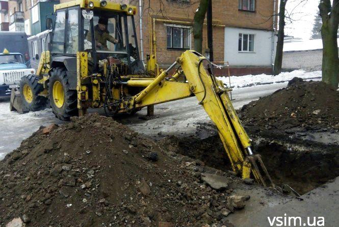 Фото дня: мешканці будинку по Володимирській на кілька годин залишаться без тепла