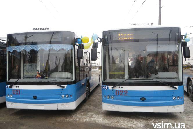 У Хмельницькому презентували сім нових тролейбусів