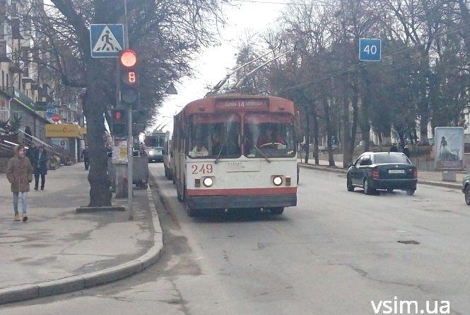 Через ремонти у Хмельницькому не ходитиме нічний тролейбус