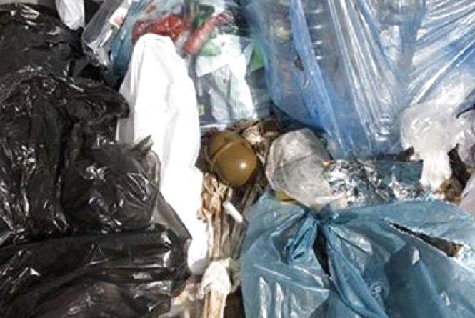На Зарічанській знайшли гранату серед сміття