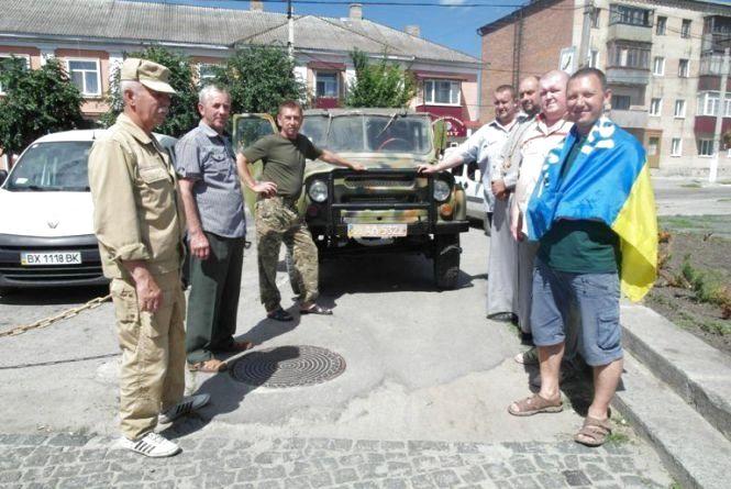 Хмельницькі волонтери відправили «УАЗ» з допомогою на Схід