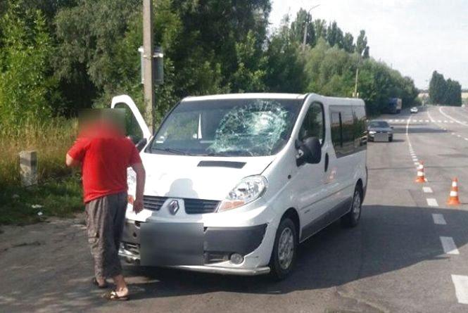 На Західно-Окружній мікроавтобус збив велосипедиста