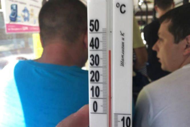 Пекло в громадському транспорті: як хмельничани «варяться» при +40