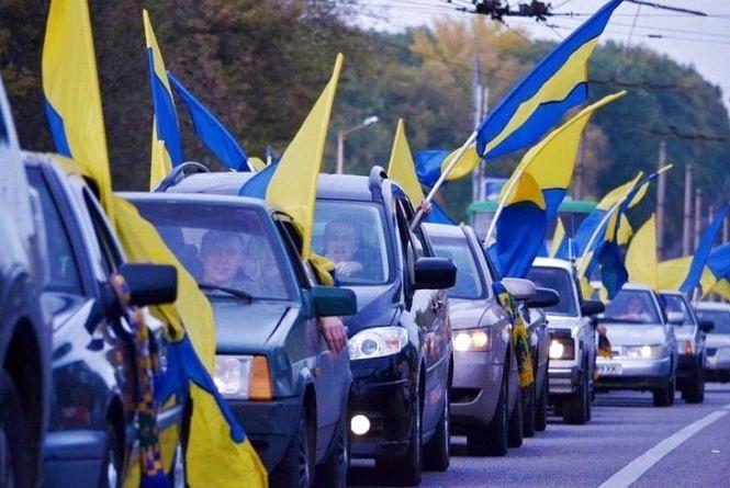 Автопробіг в підтримку подяки прямує в Хмельницький