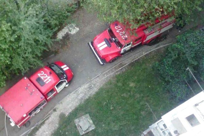На Львівському шосе горів балкон багатоповерхівки