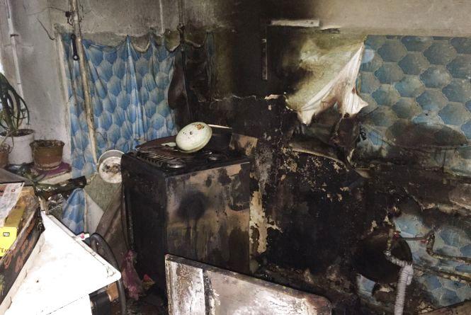 На Гастелло загорілася квартира у багатоповерхівці