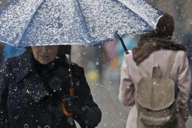 Атмосферний фронт із Заходу принесе дощ та мокрий сніг у Хмельницький