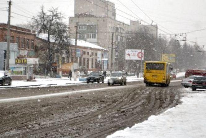 У четвер, 21 грудня, Хмельницький засипатиме снігом