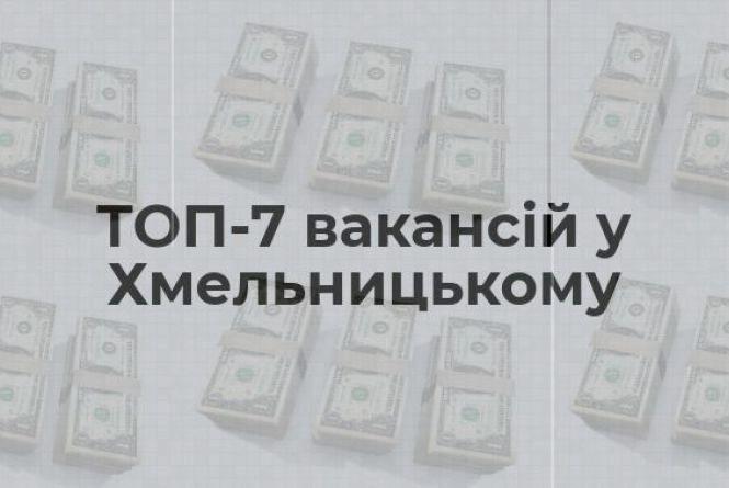 Вакансії тижня у Хмельницькому: ТОП-7 пропозицій із найвищими зарплатами