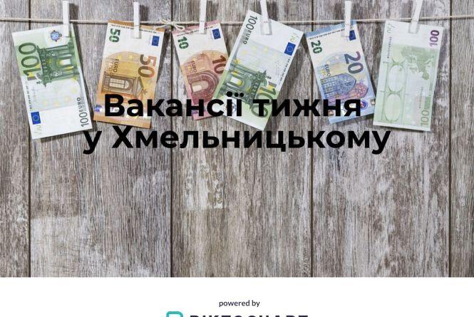 Вакансії тижня у Хмельницькому: кому готові платити від 20 000 гривень