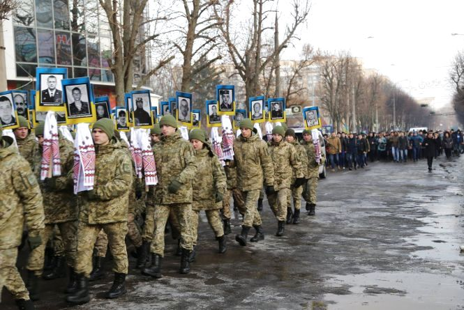 Хмельничани пройдуть маршем у пам'ять Небесної Сотні