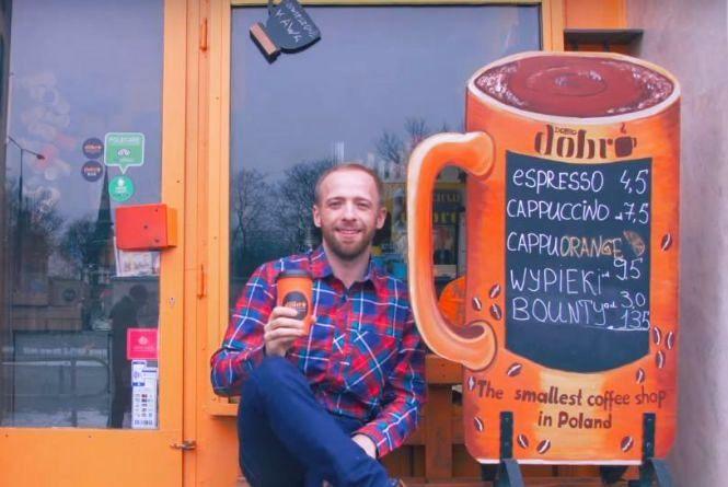 Хмельничанин відкрив кав'ярню, яка потрапила у Книгу рекордів Польщі