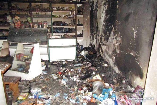 На Дунаєвеччині неповнолітні обікрали та підпалили магазин