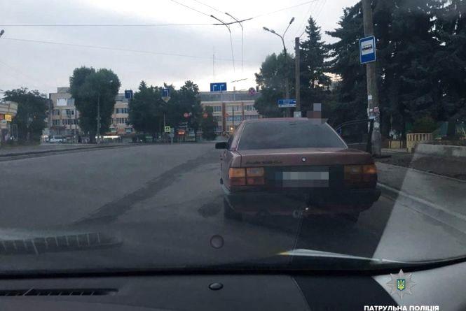 """Водій Audi """"під кайфом"""" катався вулицями Хмельницького"""