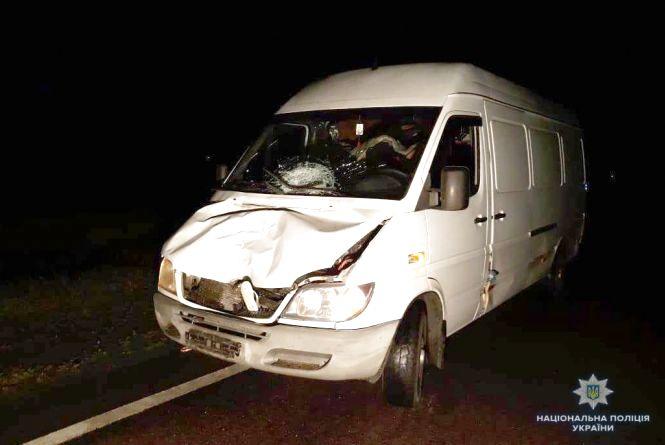 У Вінницькій області мікроавтобус насмерть збив 38-річного хмельничанина