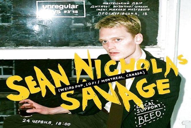 У Хмельницькому заспіває відомий канадський співак Sean Nicholas Savage