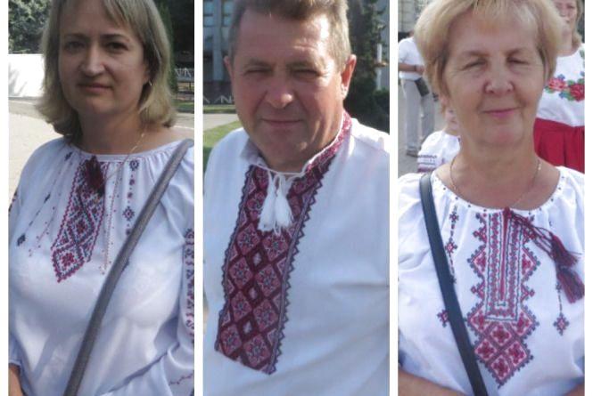 Хмельничани вийшли на парад вишиванок. Які сорочки одягнули?